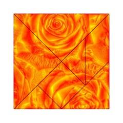 Gorgeous Roses, Orange Acrylic Tangram Puzzle (6  x 6 ) by MoreColorsinLife