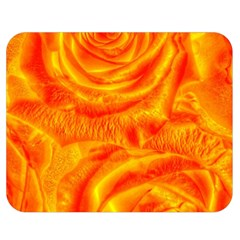 Gorgeous Roses, Orange Double Sided Flano Blanket (medium)