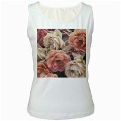 Great Garden Roses, Vintage Look  Women s Tank Tops by MoreColorsinLife