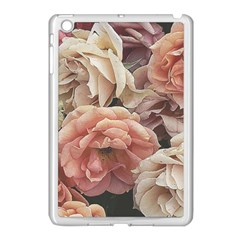 Great Garden Roses, Vintage Look  Apple iPad Mini Case (White) by MoreColorsinLife