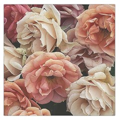 Great Garden Roses, Vintage Look  Large Satin Scarf (square)