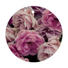 Great Garden Roses Pink Round Ornament (Two Sides)  by MoreColorsinLife