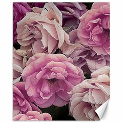 Great Garden Roses Pink Canvas 16  X 20   by MoreColorsinLife