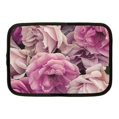 Great Garden Roses Pink Netbook Case (medium)  by MoreColorsinLife