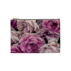 Great Garden Roses Pink Cosmetic Bag (medium)  by MoreColorsinLife