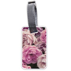 Great Garden Roses Pink Luggage Tags (one Side)  by MoreColorsinLife