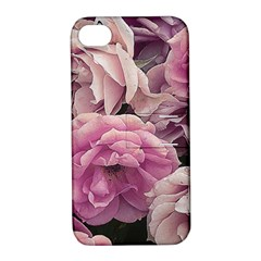 Great Garden Roses Pink Apple iPhone 4/4S Hardshell Case with Stand by MoreColorsinLife