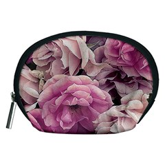 Great Garden Roses Pink Accessory Pouches (medium)  by MoreColorsinLife