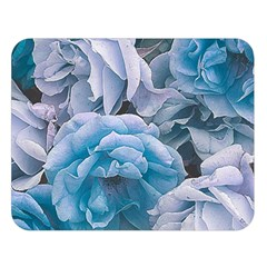 Great Garden Roses Blue Double Sided Flano Blanket (large)  by MoreColorsinLife