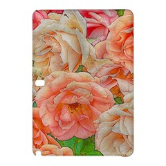 Great Garden Roses, Orange Samsung Galaxy Tab Pro 12.2 Hardshell Case by MoreColorsinLife