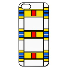 Colorful Squares And Rectangles Pattern Apple Iphone 5 Seamless Case (black) by LalyLauraFLM