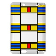 Colorful Squares And Rectangles Pattern Kindle Fire Hd (2013) Hardshell Case by LalyLauraFLM
