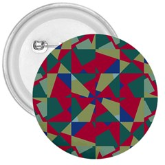 Shapes In Squares Pattern 3  Button by LalyLauraFLM