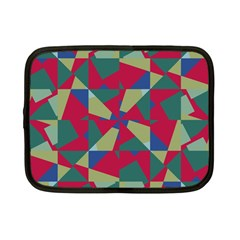 Shapes In Squares Pattern Netbook Case (small) by LalyLauraFLM