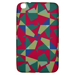 Shapes In Squares Pattern Samsung Galaxy Tab 3 (8 ) T3100 Hardshell Case  by LalyLauraFLM