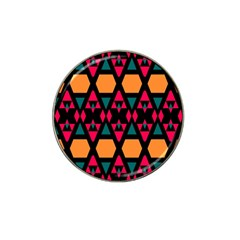 Rhombus And Other Shapes Pattern Hat Clip Ball Marker by LalyLauraFLM