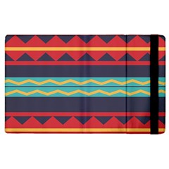 Rhombus And Waves Chains Pattern Apple Ipad 2 Flip Case by LalyLauraFLM