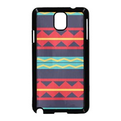 Rhombus And Waves Chains Pattern Samsung Galaxy Note 3 Neo Hardshell Case by LalyLauraFLM