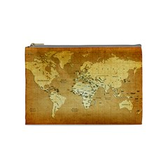 World Map Cosmetic Bag (Medium)  by emkurr