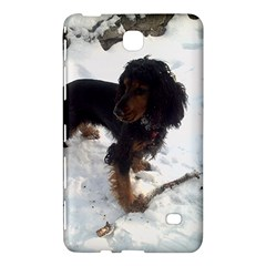 Black Tri English Cocker Spaniel In Snow Samsung Galaxy Tab 4 (7 ) Hardshell Case  by TailWags