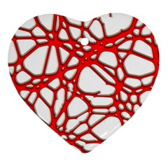 Hot Web Red Heart Ornament (2 Sides) by ImpressiveMoments