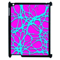 Hot Web Turqoise Pink Apple Ipad 2 Case (black) by ImpressiveMoments