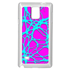 Hot Web Turqoise Pink Samsung Galaxy Note 4 Case (white) by ImpressiveMoments