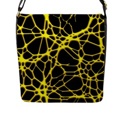 Hot Web Yellow Flap Messenger Bag (l)  by ImpressiveMoments