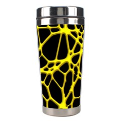 Hot Web Yellow Stainless Steel Travel Tumblers by ImpressiveMoments