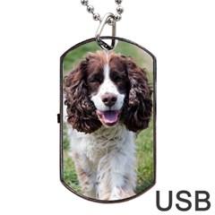 Ess Walking Dog Tag USB Flash (Two Sides)  by TailWags