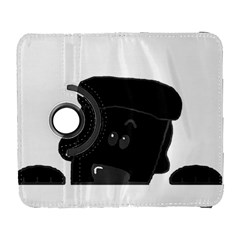 Peeping Black  Poodle Samsung Galaxy S  Iii Flip 360 Case by TailWags