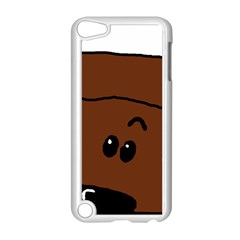 Peeping Chocolate Poodle Apple iPod Touch 5 Case (White) by TailWags