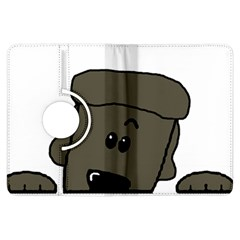 Peeping Silver  Poodle Kindle Fire HDX Flip 360 Case by TailWags