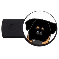 Peeping Rottweiler USB Flash Drive Round (2 GB)  by TailWags