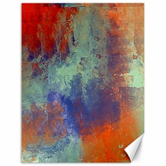 Abstract In Green, Orange, And Blue Canvas 18  X 24   by theunrulyartist