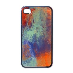 Abstract In Green, Orange, And Blue Apple Iphone 4 Case (black) by theunrulyartist