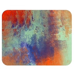 Abstract In Green, Orange, And Blue Double Sided Flano Blanket (medium)  by theunrulyartist