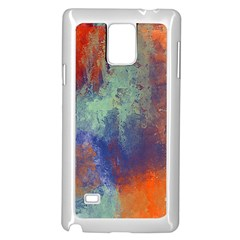Abstract In Green, Orange, And Blue Samsung Galaxy Note 4 Case (white) by theunrulyartist