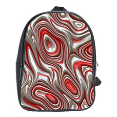 Metal Art 9 Red School Bags (xl)  by MoreColorsinLife