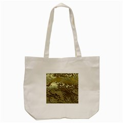 Metal Art Swirl Golden Tote Bag (cream)  by MoreColorsinLife