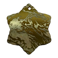 Metal Art Swirl Golden Snowflake Ornament (2 Side) by MoreColorsinLife