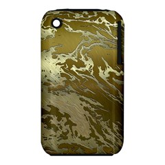 Metal Art Swirl Golden Apple Iphone 3g/3gs Hardshell Case (pc+silicone) by MoreColorsinLife