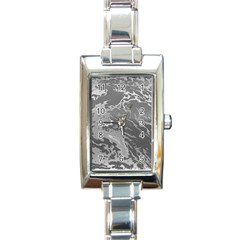 Metal Art Swirl Silver Rectangle Italian Charm Watches by MoreColorsinLife