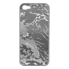Metal Art Swirl Silver Apple Iphone 5 Case (silver) by MoreColorsinLife