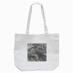 Metal Art Swirl Silver Tote Bag (white)  by MoreColorsinLife
