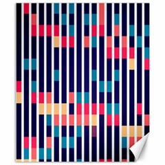 Stripes And Rectangles Pattern Canvas 8  X 10  by LalyLauraFLM