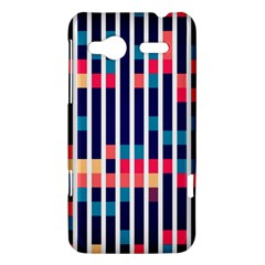 Stripes and rectangles pattern HTC Radar Hardshell Case  by LalyLauraFLM
