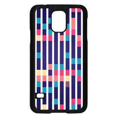 Stripes And Rectangles Patternsamsung Galaxy S5 Case by LalyLauraFLM