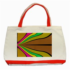 Symmetric Waves Classic Tote Bag (red) by LalyLauraFLM