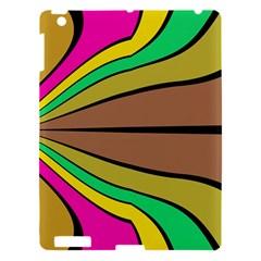 Symmetric waves Apple iPad 3/4 Hardshell Case by LalyLauraFLM